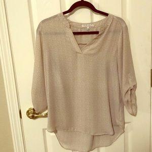 Simple print cream blouse